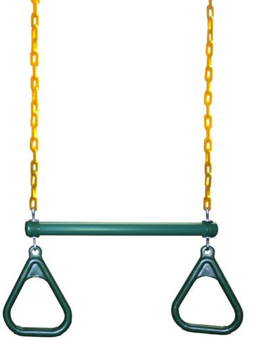 Eastern Jungle Gym Heavy-Duty Ring Trapeze Bar Combo Swing ,Large 20 Trapeze Bar with Coated Swing Chains 43 Long