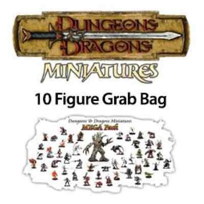 10 Assorted D&D Dungeons and Dragons Miniatures Figures Minis