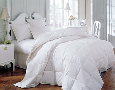 Comforter Duvet Insert Quilted with Corner Tabs - Hypoallergenic, Siliconized Plush Fiberfill. Boxed Stitched Goose Down Alternative Bedding (King, White)