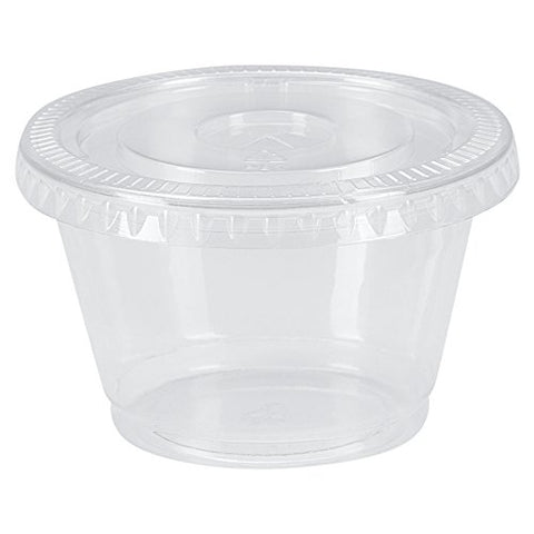 Benail Disposable Portion Cups Souffle Cup with Lids, 4-Ounce