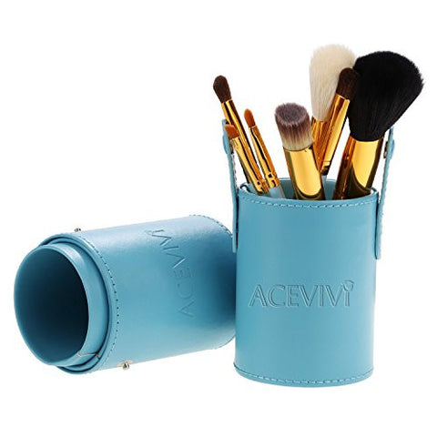 ACEVIVI Makeup Brushes - 7 PIECE Premium Makeup Brush Kit Handle Synthetic Kabuki Foundation Cosmetic Brushes for Powder Liquid Cream