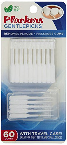 Plackers Gentle Dental Picks with Fluoride, 60 Count