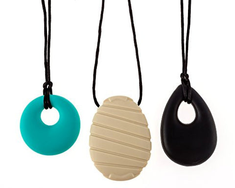 Chew-Choos Silicone Pendant Necklaces Gift Set for Mom's and Babies - Fashionable Everyday Chewelry