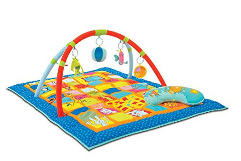 Taf Toys Curiosity Activity Gym Tummy Time Play Mat | Neck & Shoulder Comfort, Removable Arches, Touch Musical Ball, Squeaker, Crinkles, Teethers, Butterfly, Easier Child Development & Parenting
