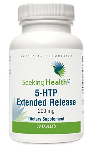 5-HTP Extended Release | 200 mg | 30 Vegetarian Tablets | Seeking Health