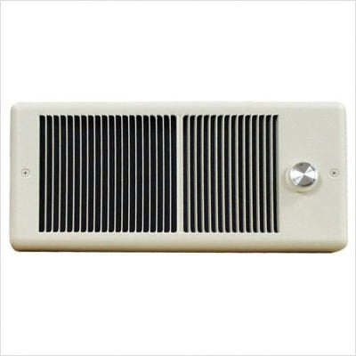 TPI HF4315TRP Series 4300 Low Profile Fan Forced Wall Heater with 1 Pole Thermostat, Standard, Ivory, 1500/1125 W