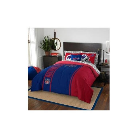NFL Buffalo Bills Soft & Cozy 7-Piece Full Size Bed in a Bag Set
