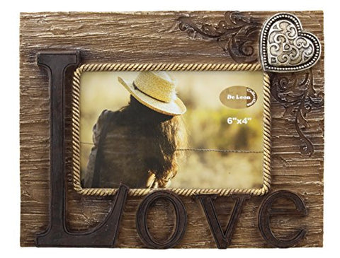 Rustic Love Picture Frame 4  X 6  Photo Horizontal - Decorative Table Top
