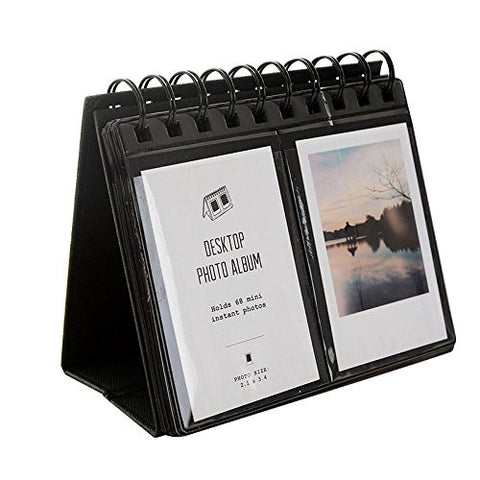 HAOCOO 68 Pockets Photo Album Book Album For Fujifilm instax mini7s 8 25 50s 90 Film (Black)