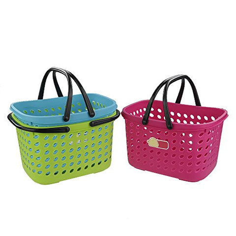 Pekky Small Colored Handle Baskets for Bathroom, Health and Beauty Products
