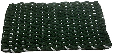 Rockport Rope Doormats 2030294 Christmas Doormats, 20 by 30-Inch, Forest Green with White Insert