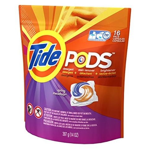 Tide Laundry Detergent Spring Meadow, 16 Count
