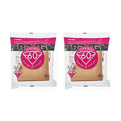 10Set X Hario 02 100-Count Coffee Natural Paper Filters, Value Set (Total of 1000 Sheets) by Hario
