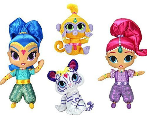 Shimmer and Shine with Tala and Nahal ~ 6 Inch Shimmer Plush Set of 4 Dolls