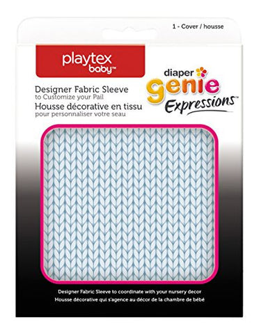 Playtex Diaper Genie Expressions Diaper Pail Fabric Sleeve, Blue Knit