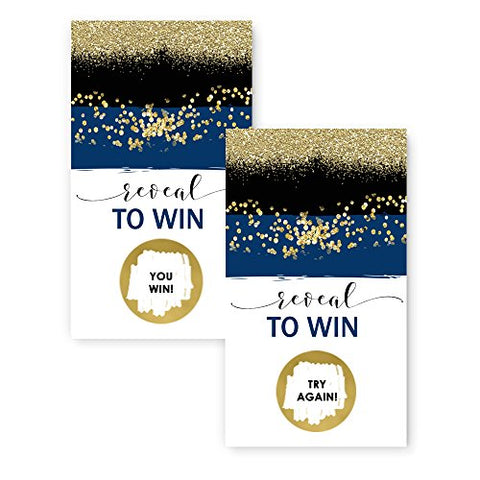 Navy and Gold Scratch Off Card Game Pack