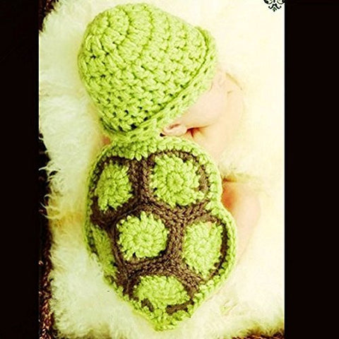 Pinbo Baby Newborn Photography Props Baby Outfits within 0-6 months, Cute Tortoise Style