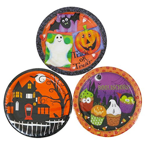 Party House 9 Inch Halloween Paper Plates - 90 Count