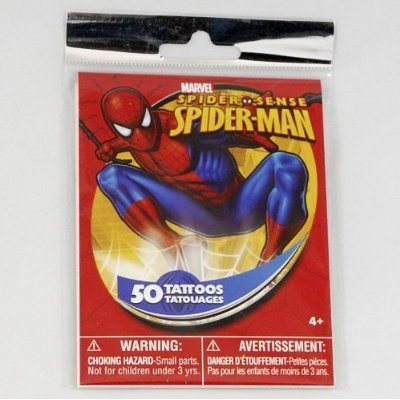 Spider-Man Temporary Tattoos - 50 Tattoos per Package!