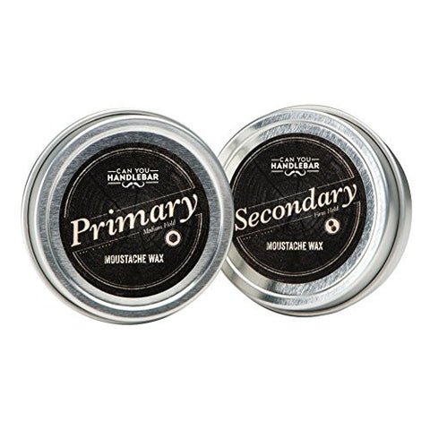 CanYouHandlebar Premium All-Natural Primary and Secondary Moustache Wax Set: Daily and Extra Strength Wax Kit