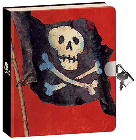Peaceable Kingdom Pirates 6.25 Lock and Key, Lined Page Diary for Kids