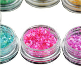 Beauties Factory 12x Crushed Shell Chips Nail Art Irregular Shape Glitter UV Gel Acrylic