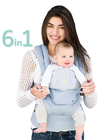 SIX-Position, 360° Ergonomic Baby & Child Carrier by LILLEbaby - The COMPLETE Organic (Powder Blue)