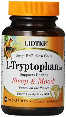Lidtke Technologies L-Tryptophan Capsules, 30 Count
