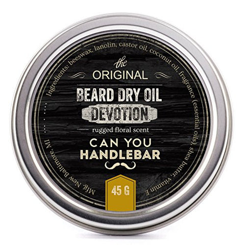 CanYouHandlebar Devotion Premium Beard Dry Oil (beard balm): Rugged Floral