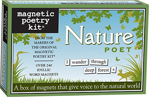 Magnetic Poetry - Nature Poet Kit - Words for Refrigerator - Write Poems and Letters on the Fridge - Made in the USA