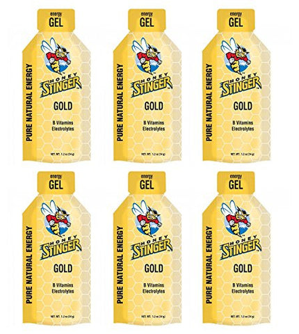 Honey Stinger Gold Classic Energy Gel (6 x 1.2oz Packs)