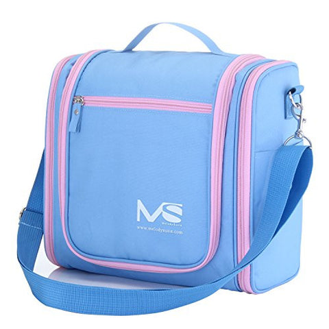 MelodySusie Hanging Toiletry Bag / Travel Bag - A Great Choice of Large Waterproof Toiletry Bag for Outdoor Activities (Macaron Blue)