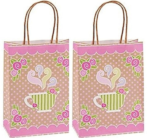 - Tea Party Kraft Paper Gift Bags