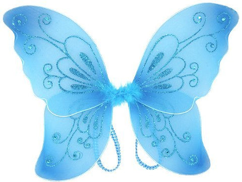 Cutie Collection Sparkling Fairy Costume Wings Select Costume, Blue