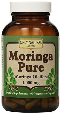 Only Natural Moringa Pure - 1000 mg - 90 Vegetarian Capsules