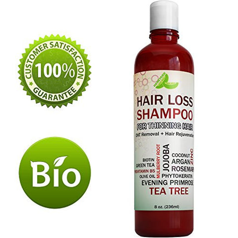 Best Hair Loss Shampoo Potent Hair Loss Fighting Formula 100% Natural Topical Regrowth Treatment Restores Hair Stops Hair Shedding Contains Biotin Rosemary Coconut Oil For Women and Men