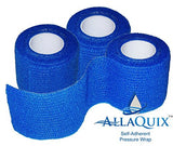 AllaQuix Self-Adherent Pressure Wrap - - Flexible Non-Stick Gauze Bandage - Latex-Free