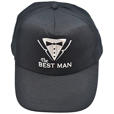 Black Hat for the Groom Best Man or Groomsmen--Perfect gifts for the wedding party! (Best Man)