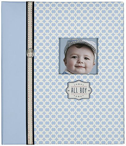 C.R. Gibson First 5 Years Loose Leaf Memory Book, Record Memories and Milestones on 64 Beautifully Illustrated Pages - All Boy