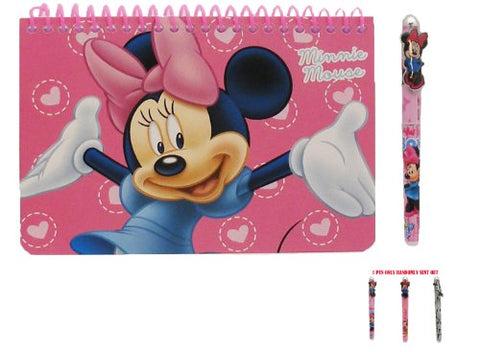 Disney Minnie Mouse Spiral Autograph Book Pink and 1 Beatiful Pen