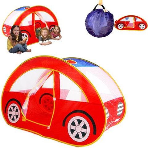 Dazzling Toys Kids Pop-up Car Play Tent - Easy Pop-up and Twist-fold to Store Compactly and Neat - 1-4 Children Fit Inside At Once