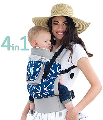 LILLEbaby 4 in 1 ESSENTIALS Baby Carrier - Charcoal Anchors Away