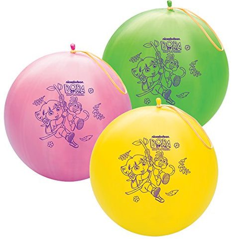 Qualatex 14  Round Latex Punch Ball Balloon Officially Licensed Dora The Explorer