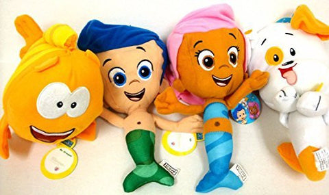 Bubble Guppies Gil, Molly, and Bubble Puppy and Mr Grouper Medium Plush Doll Set 10