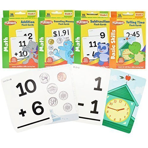 1st Grade Math Flash Cards with Stickers by Playskool -
