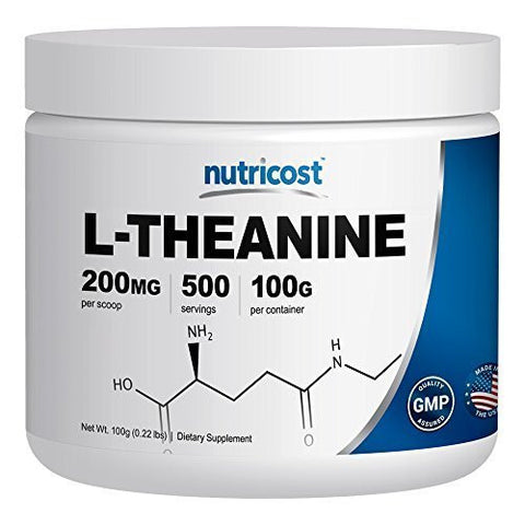Nutricost Pure L-Theanine Powder 100 Grams
