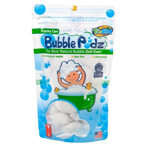 TruKid Eczema Bubble Podz Natural Unscented Bubble Bath 24ct. Accepted by the National Eczema Association