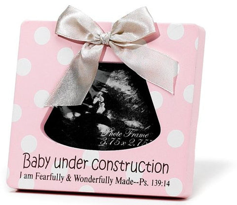Dicksons Baby Under Construction Photo Frame, Pink