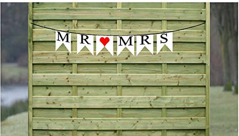 Mr and Mrs Paper Garland Bunting Party Decoration Banner Wedding / Anniversary Photo Props Hanging Decor Sign