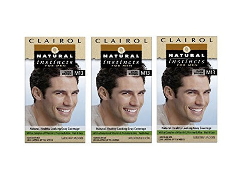 Clairol Natural Instincts Hair Color For Men M13 Dark Brown 1 Kit